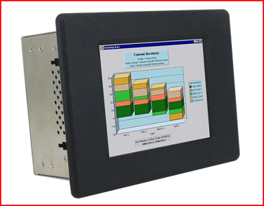 "AbraxSyhs AS084P4PCC 8.4"" Industrial Grade NEMA 4 (IP65) WinCE based HMI Touch Screen Front View"