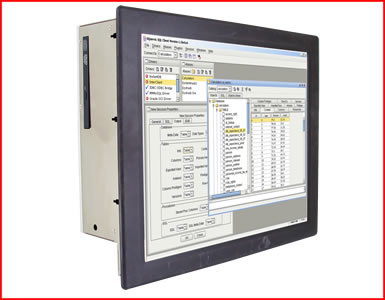 "AbraxSys AS190P4PCF 19"" NEMA 4 (IP65) Industrial Grade Fan-Less Touch Screen Panel PC"