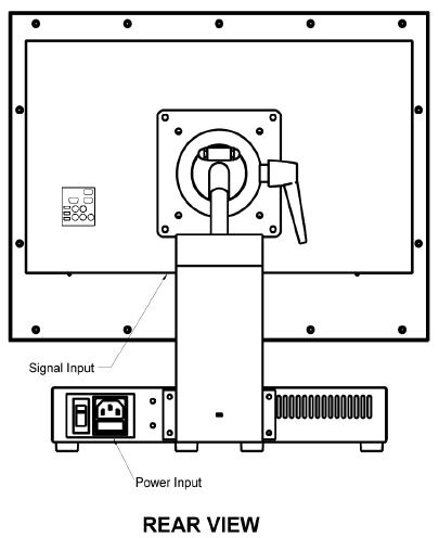 AbraxSys AS150TL Outline Drawing Rear View