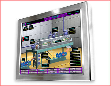 "AbraxSys AS170V4X 17"" NEMA 4X (IP66) Fully-Enclosed VESA Mount LCD Flat Panel"