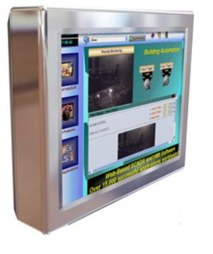 "AbraxSys AS170V4XPC 17"" NEMA 4X (IP66) Fully-Enclosed Touch Screen LCD & Integrated Computer"