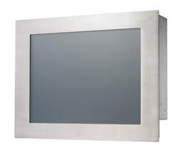 "AbraxSys AS121P4X 12.1"" NEMA 4X (IP66) Panel Mount LCD Flat Panel Display Front View"