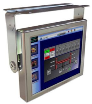 "AbraxSys AS190V4XPC 19"" NEMA 4X (IP66) Industrial Grade Fully-Enclosed LCD Touch Screen with Integrated Computer with Optional Mounting Bracket"