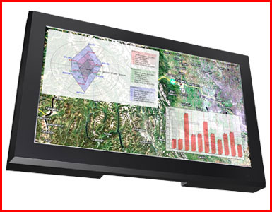 "AbraxSys AS240V 24"" IP50 Full High-Definition 1080p VESA Mount LCD Flat Panel Front View"