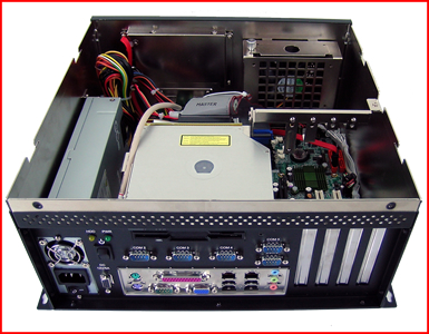 AbraxSys AS450PC Industrial Grade Computer with 2x PCI, 1x PCIEx16, 1x PCIEx4 Inside View