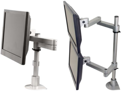 Articulating dual LCD mount
