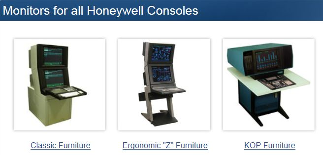 AbraxSys LCD Solutions for Honeywell IAC Consoles, TDC2000, TDC3000, UxS, Universal Stations, Z-style Furniture, 4500, 45000, GUS