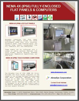 AbraxSys IP66 NEMA 4X Fully-Enclosed LCD & Computer Product Flyer Link