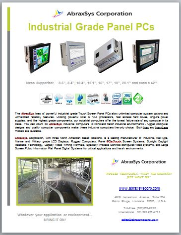 Industrial Grade Panel PC Product Flyer Link