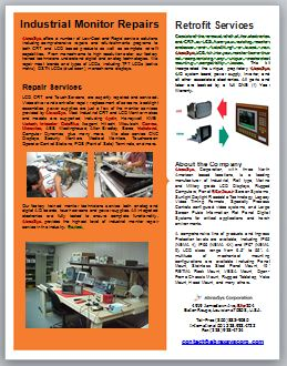 AbraxSys Industrial CRT and LCD Monitor Repair & Retrofit Services Flyer Link