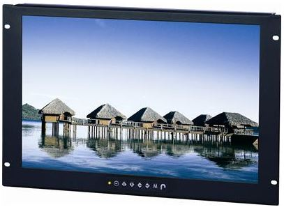 AbraxSys Model AS121RW2 Wide Video Format Rack Mount LCD Monitor