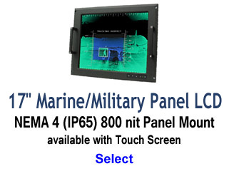 17 inch Marine and Military Grade Display
