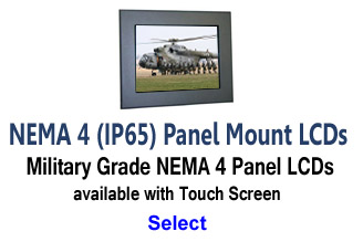Mil-Spec Panel Mount Monitors