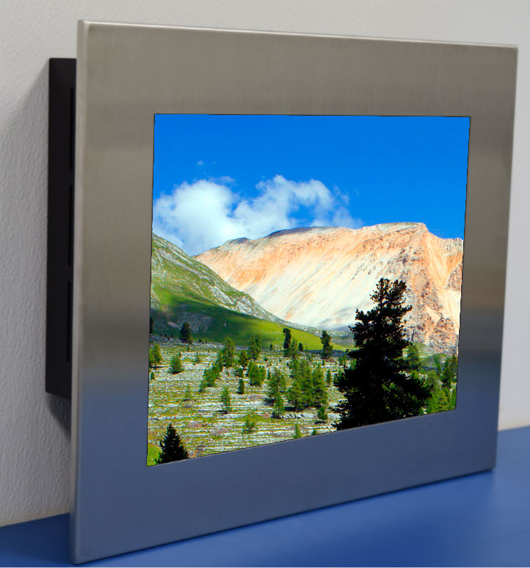 15 inch  Sunlight Readable Stainless Steel, NEMA 4X, Panel Mount LCD