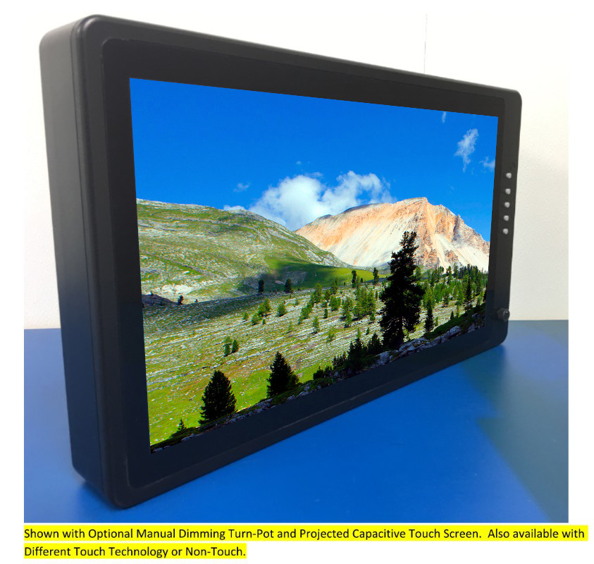 18.5 inch Sunlight Viewable Vesa Mount LCD