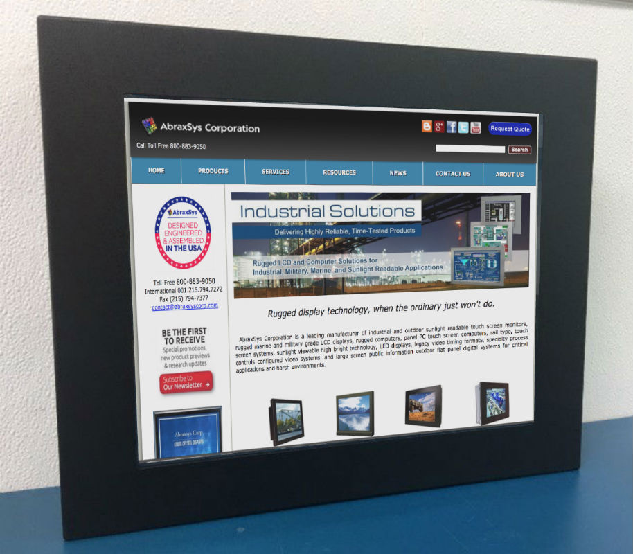 19.0 Rugged,  Panel Mount LCD