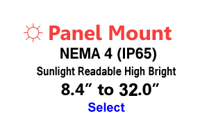 Panel Mount NEMA 4 Sunlight Readable Monitors
