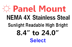 AbraxSys High Bright Panel Mount NEMA 4X Monitors