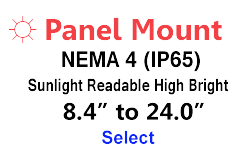 AbraxSys High Bright Panel Mount NEMA 4 Monitors